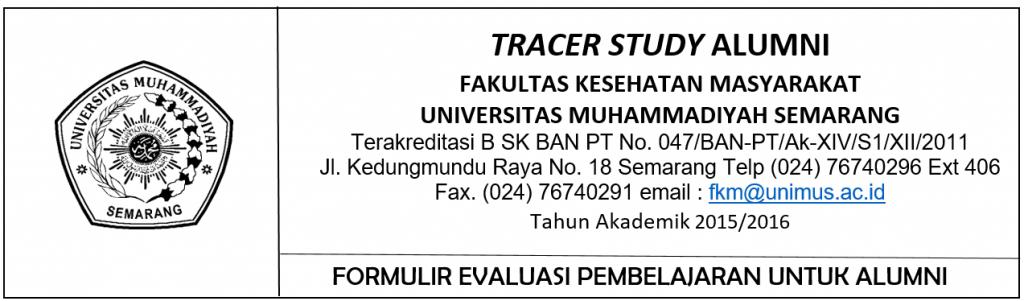 Form Tracert Studi FKM Unimus